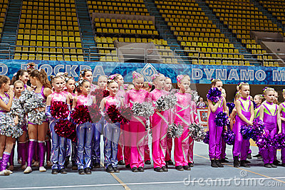 Children cheerleaders teams at Championship Editorial Photo