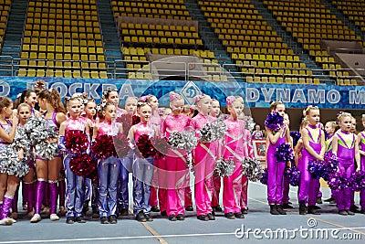 Children cheerleaders teams at Championship Editorial Photo