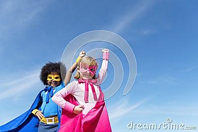 Children Childhood Super Hero Concept Stock Photo