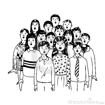 Displaying (17) Gallery Images For Childrens Choir Clip Art...
