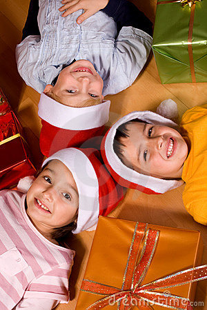 Children and Christmas gifts