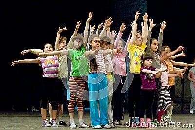Children circle Editorial Photo