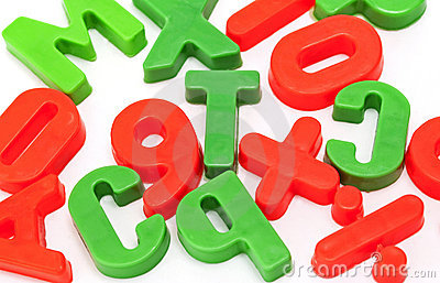 Children colored letters