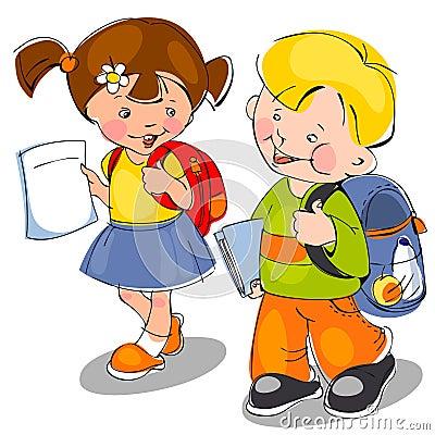 Children come to school