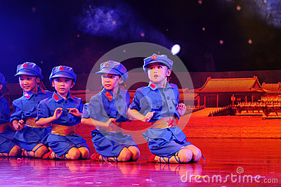 Children in the dance performance Editorial Stock Image