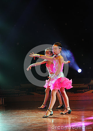 Children in the dance performance Editorial Image