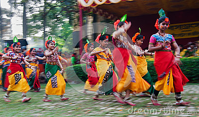 Children dance performers at spring festival Editorial Image