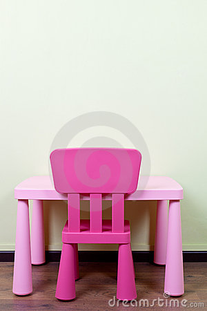 Children desk and chair