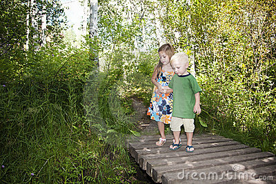 Children Discovering Nature Together