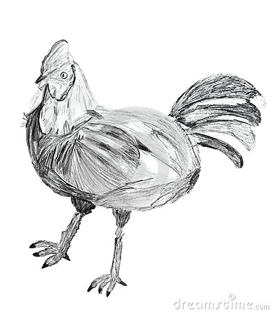 Children drawing - chicken