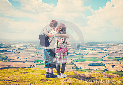 http://thumbs.dreamstime.com/x/children-enjoying-countryside-two-taking-breathtaking-views-over-england-summer-was-first-time-saw-53821316.jpg