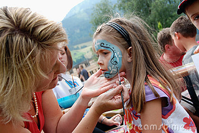 Children face painting Editorial Photo