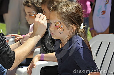 Children Face Painting Editorial Image