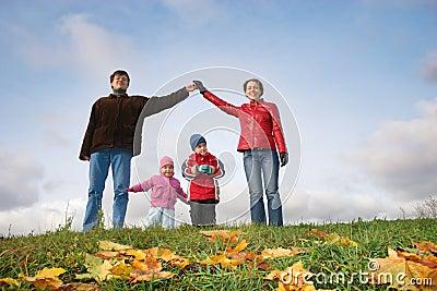 Children in family house.