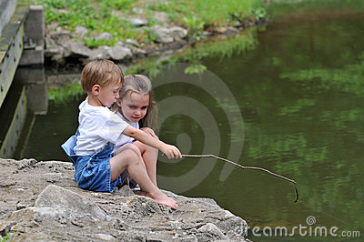 Children Fishing