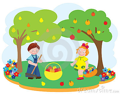 Children in a garden