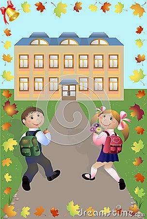 Children go in school