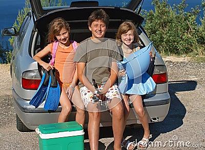 Children go on summer vacation