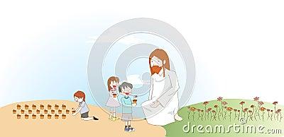 Children with god