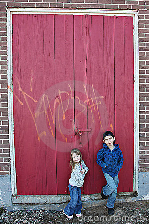 Children and graffiti