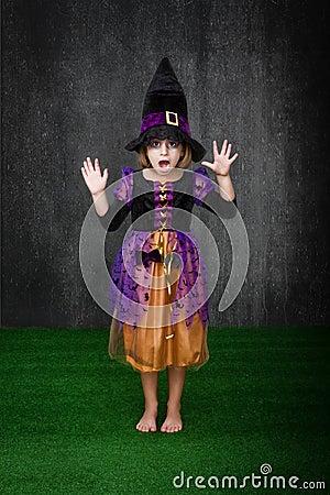 Children halloween fear