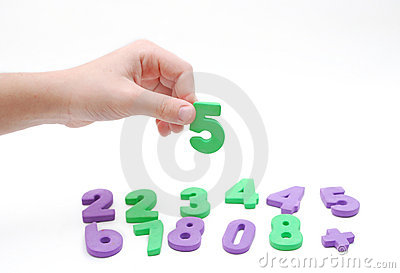 Children hand and numeral