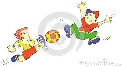 Cartoon Illustration of Cute Children and Teens Characters Large Se Stock Photo