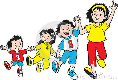Children have fun together