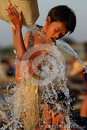 Children having fun in Mandalay Editorial Stock Image
