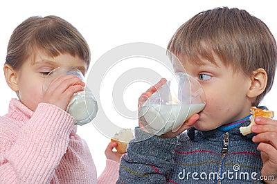 Children having lunch