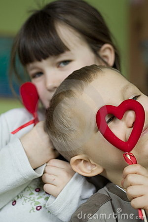 Children with hearts