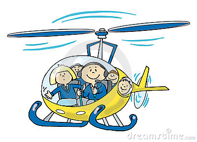 Children in a Helicopter