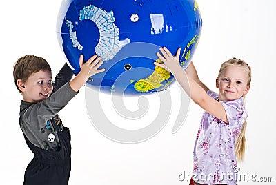 Children Holding The Earth