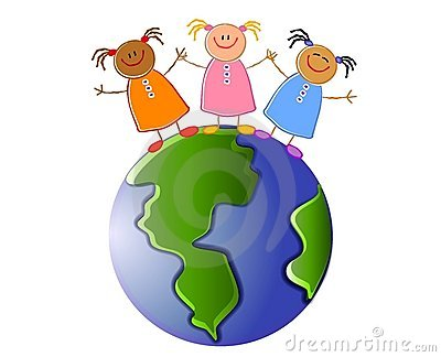Children Holding Hands Earth