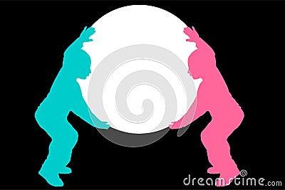 Children holding sphere