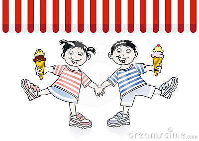 Children and ice cream