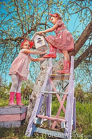 Free Children In Garden Stock Images - 42056954