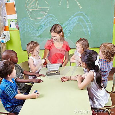 Free Children In Music School Playing Stock Photography - 39873162