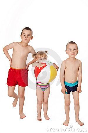 Free Children In Swimsuits Stock Photo - 14380070