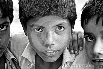Children of India Editorial Stock Image