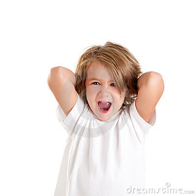 Children kid laughing happy with arms up isolated
