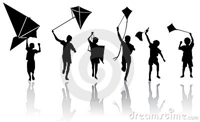 Children With Kite  Royalty Free Stock Photos - Image: 14348258