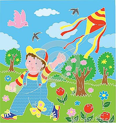 Children with kite