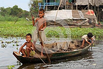 Children at Kompong Phluk, Cambodia