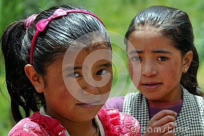 Children from Ladakh (Little Tibet), India Editorial Photography