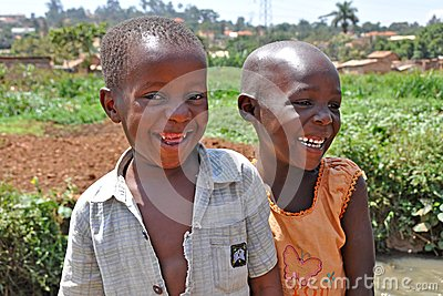 Children Laugh In Kampala Slums Editorial Stock Image