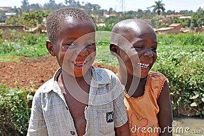 Children Laugh In Kampala Slums Editorial Stock Image