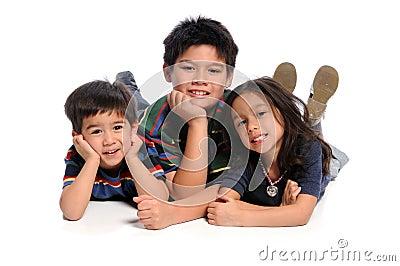 Children Laying on Floor