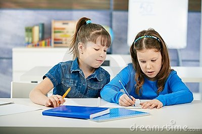 Children learning in classroom