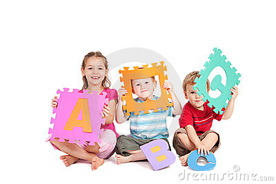 Children learning fun kids alphabet ABC letters